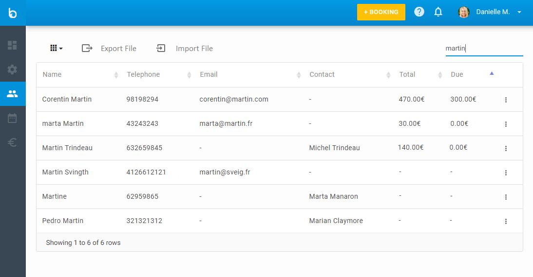 Clients Database Management