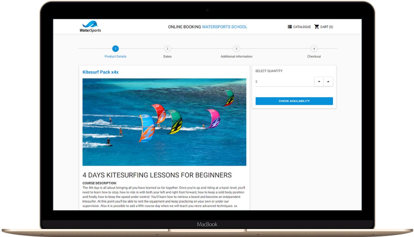 Réservation en ligne kiteboard
