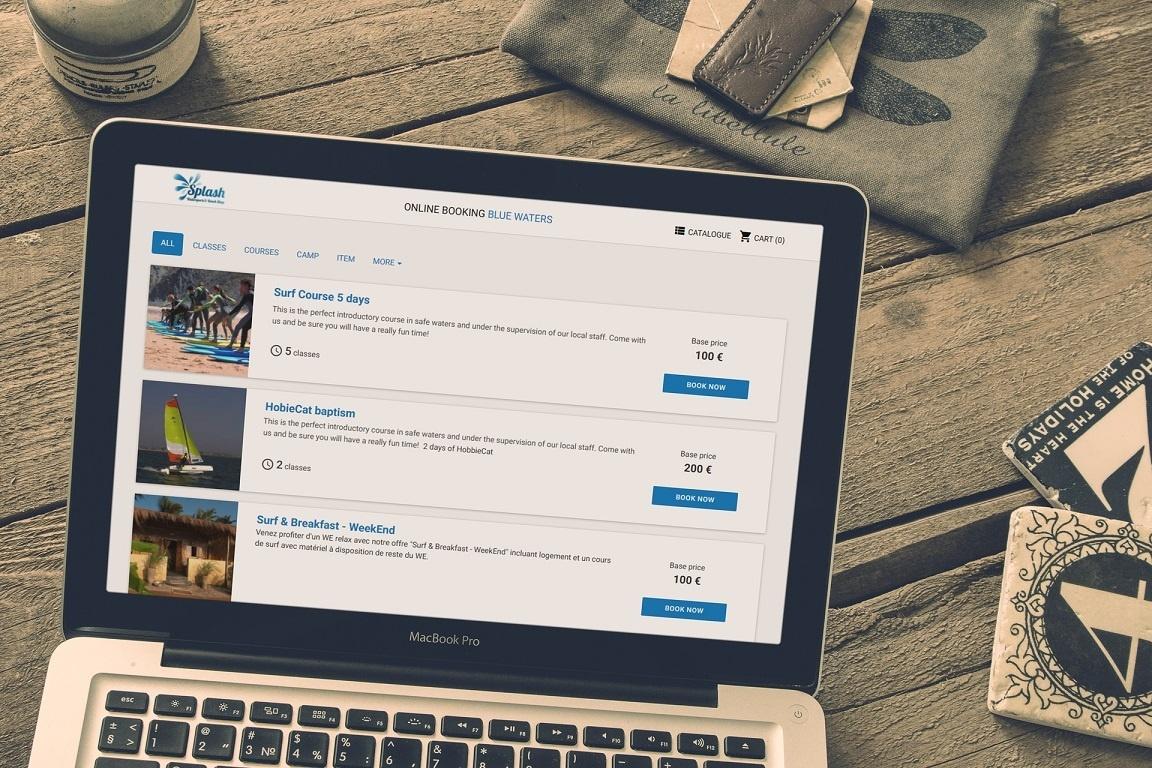 Catalogue de réservation en ligne
