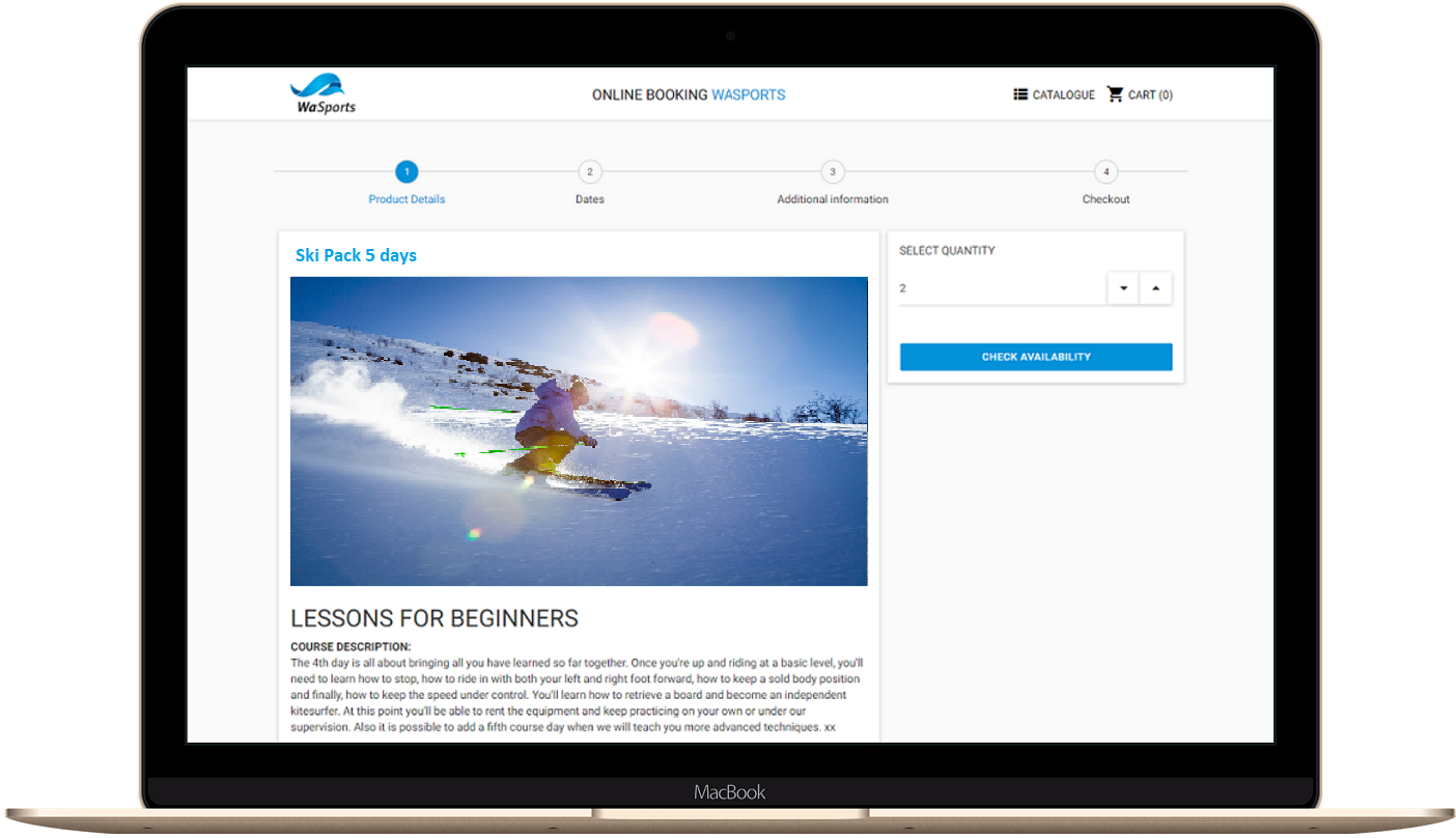 Online Booking software for ski classes