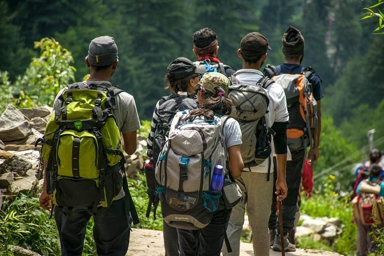 Group of outdoor activities customers