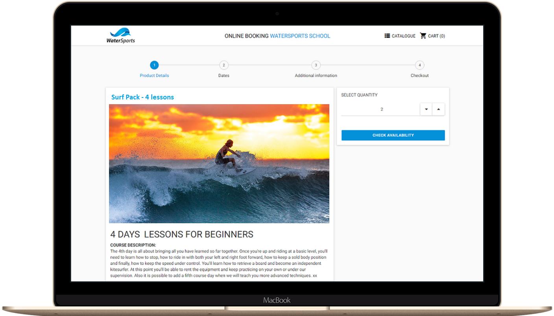 Vente en ligne école de surf