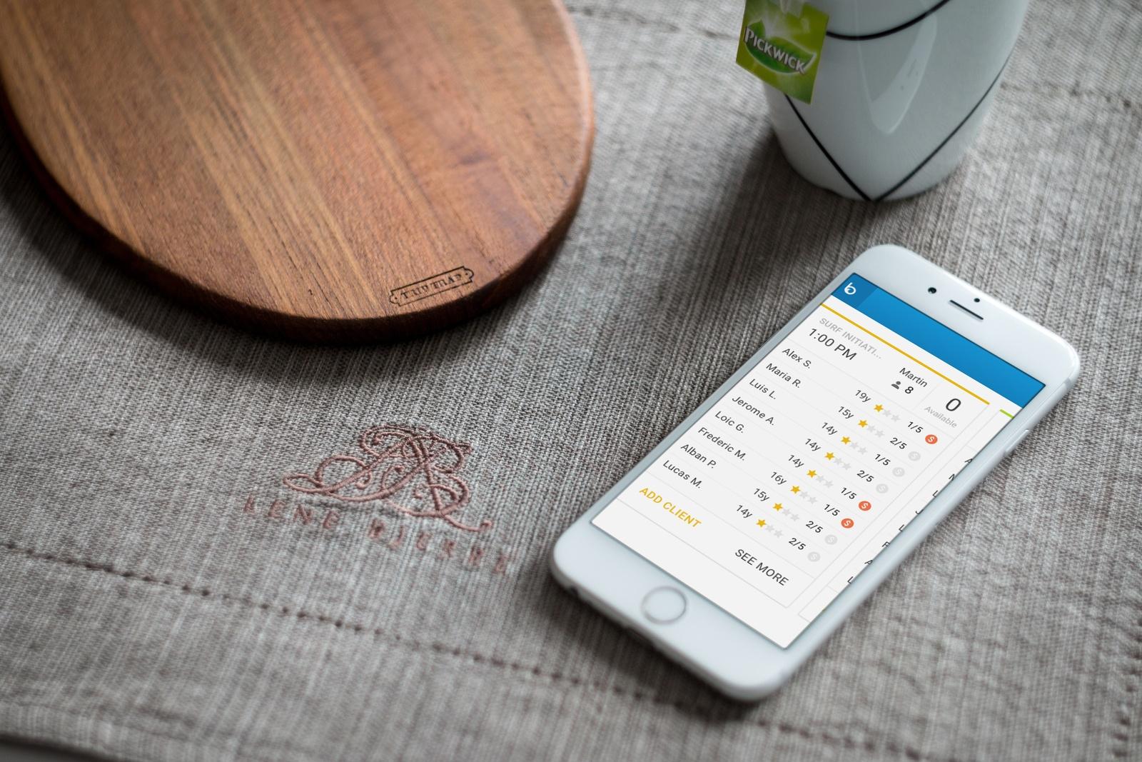 Planificación de reservas a través del móvil