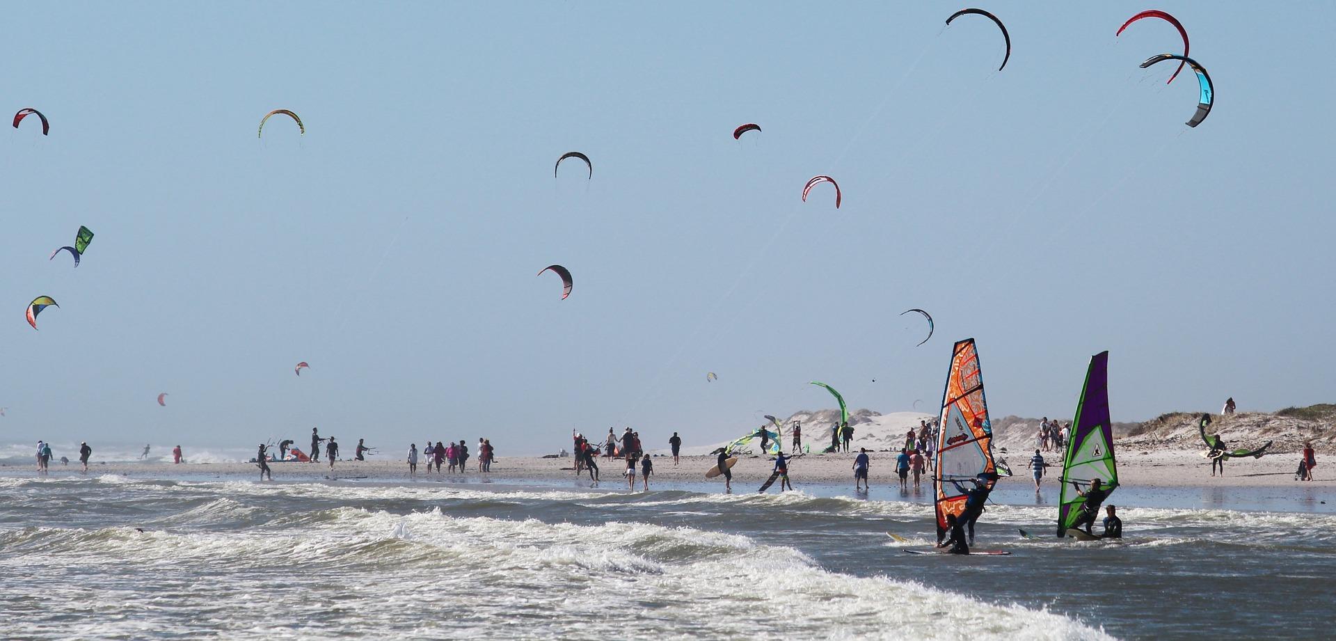 Clientes de escuelas de kitesurf y windsurf